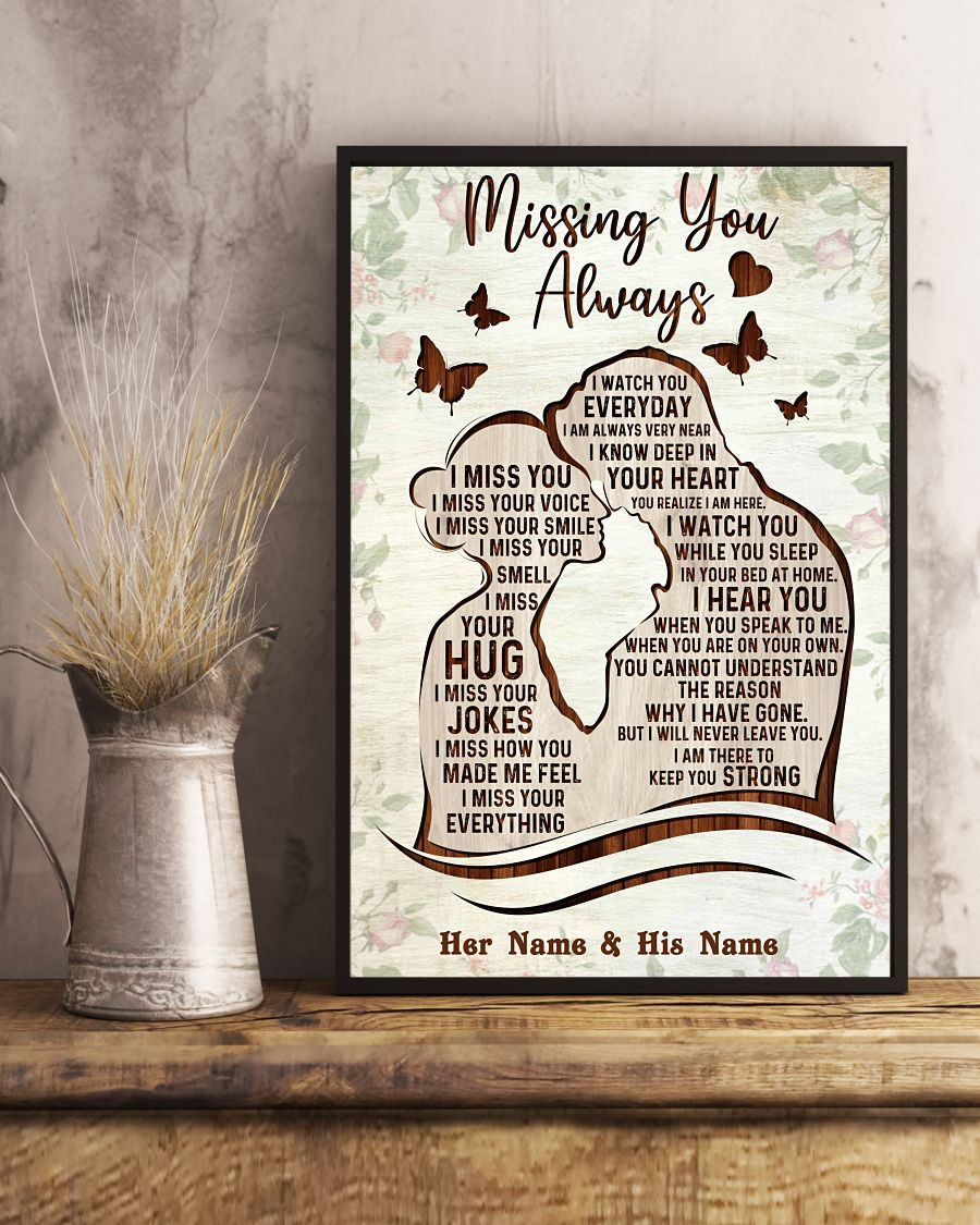 Missing you always custom name poster 3 1