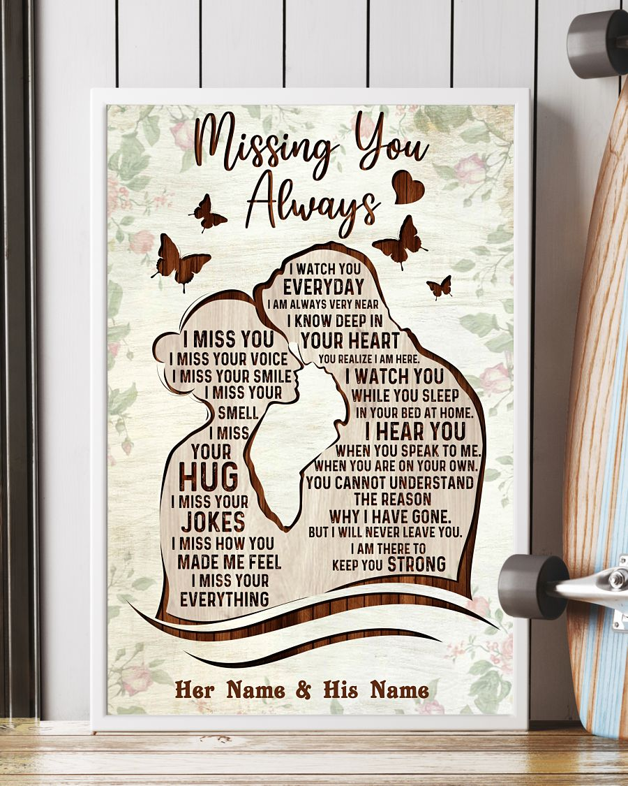 Missing you always custom name poster 4 1