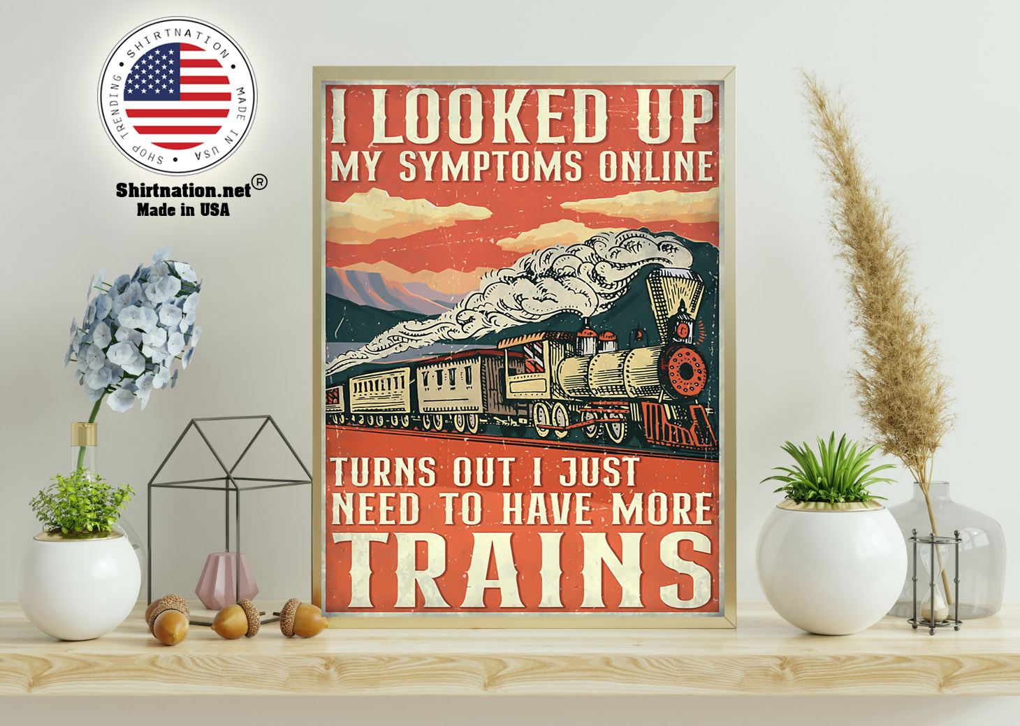 Model railroad looked up my symptoms online poster 11