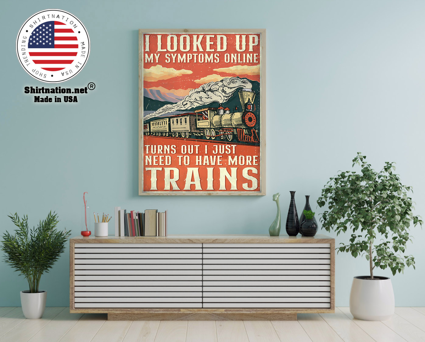 Model railroad looked up my symptoms online poster 12
