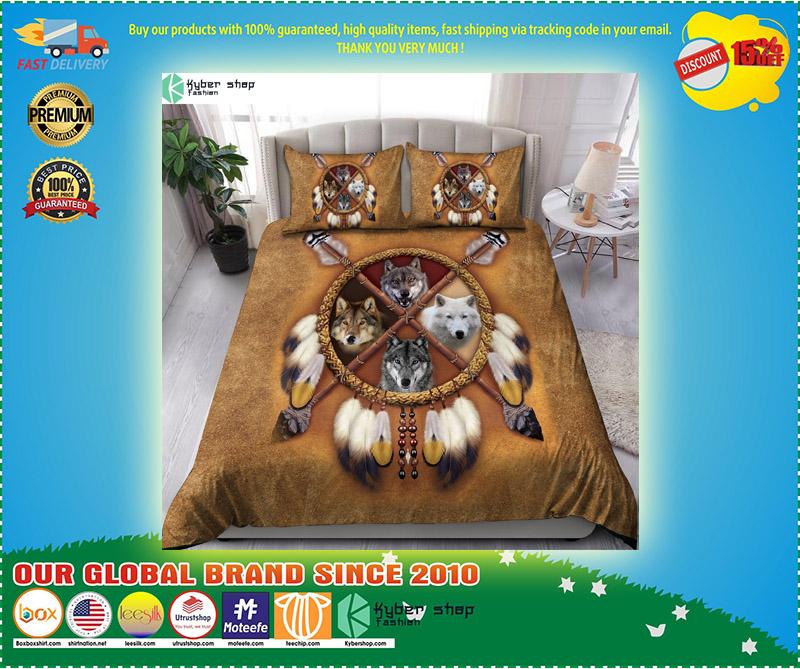Native american wolf bedding set 1