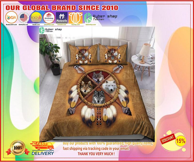 Native american wolf bedding set 3