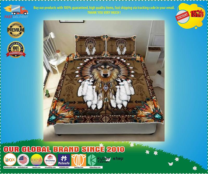 Native american wolf spirit bedding set 4