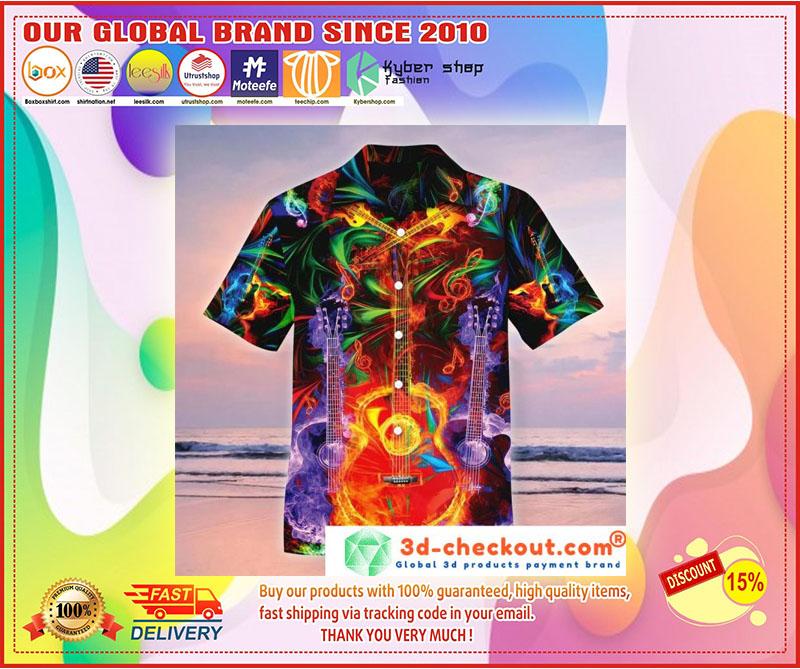 Neon Guitar Hawaiian shirt 2