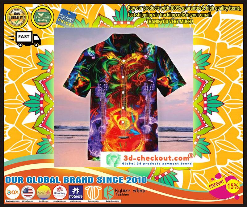 Neon Guitar Hawaiian shirt 4