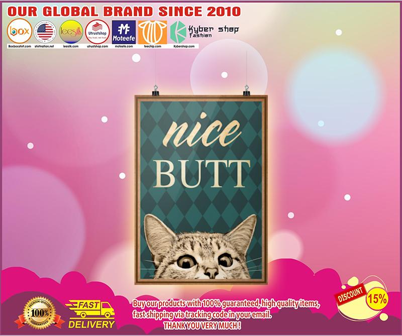 Nice butt Cat poster 1