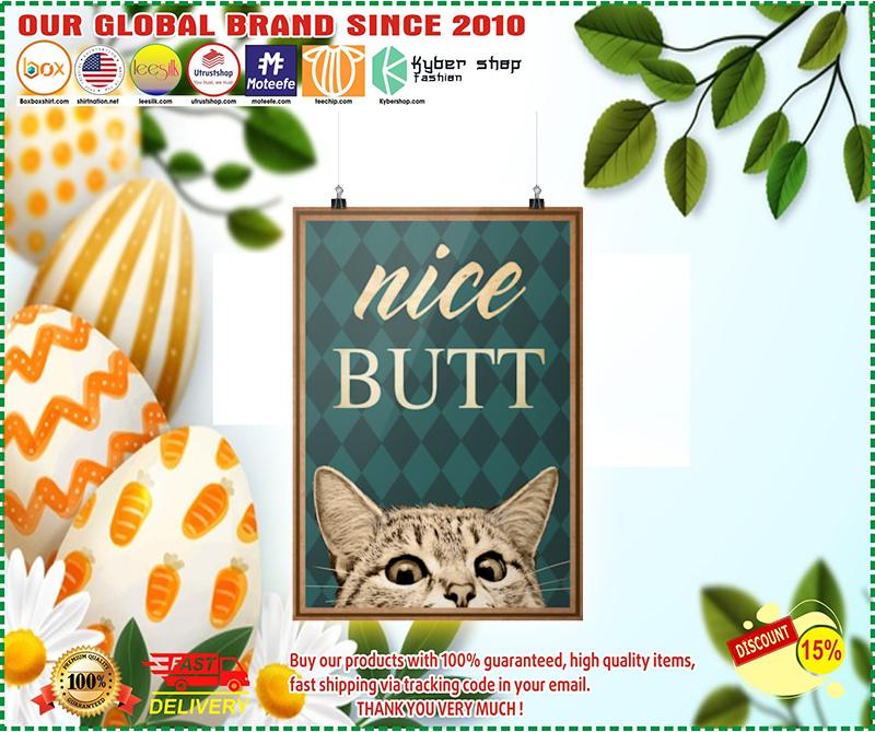Nice butt Cat poster 2