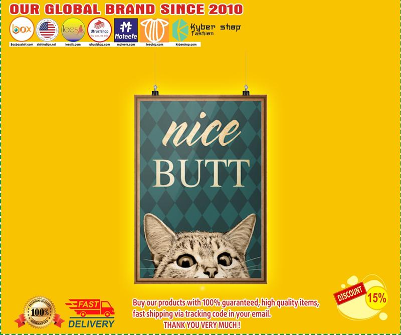 Nice butt Cat poster