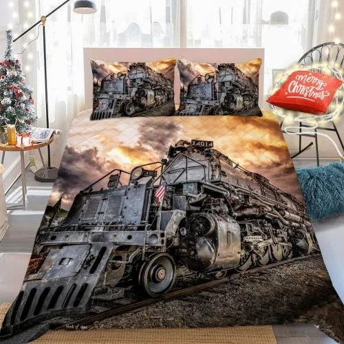 Old railroad bedding set 1
