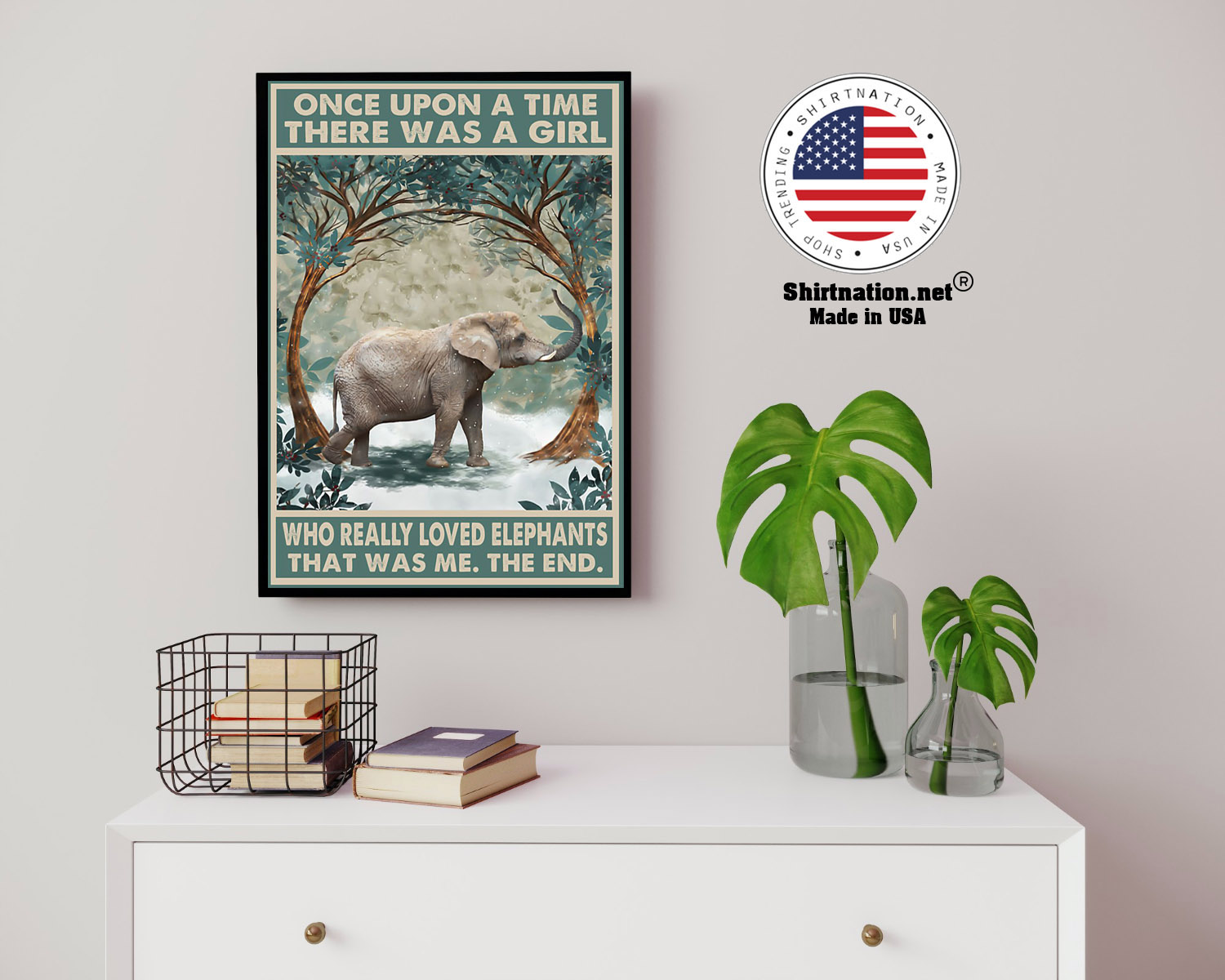 Once upon a time there was a girl who really loved elephants poster 8