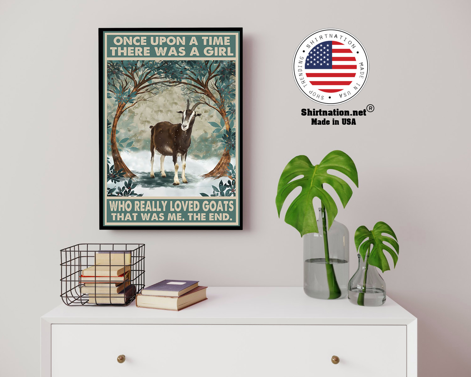 Once upon a time there was a girl who really loved goats poster 14