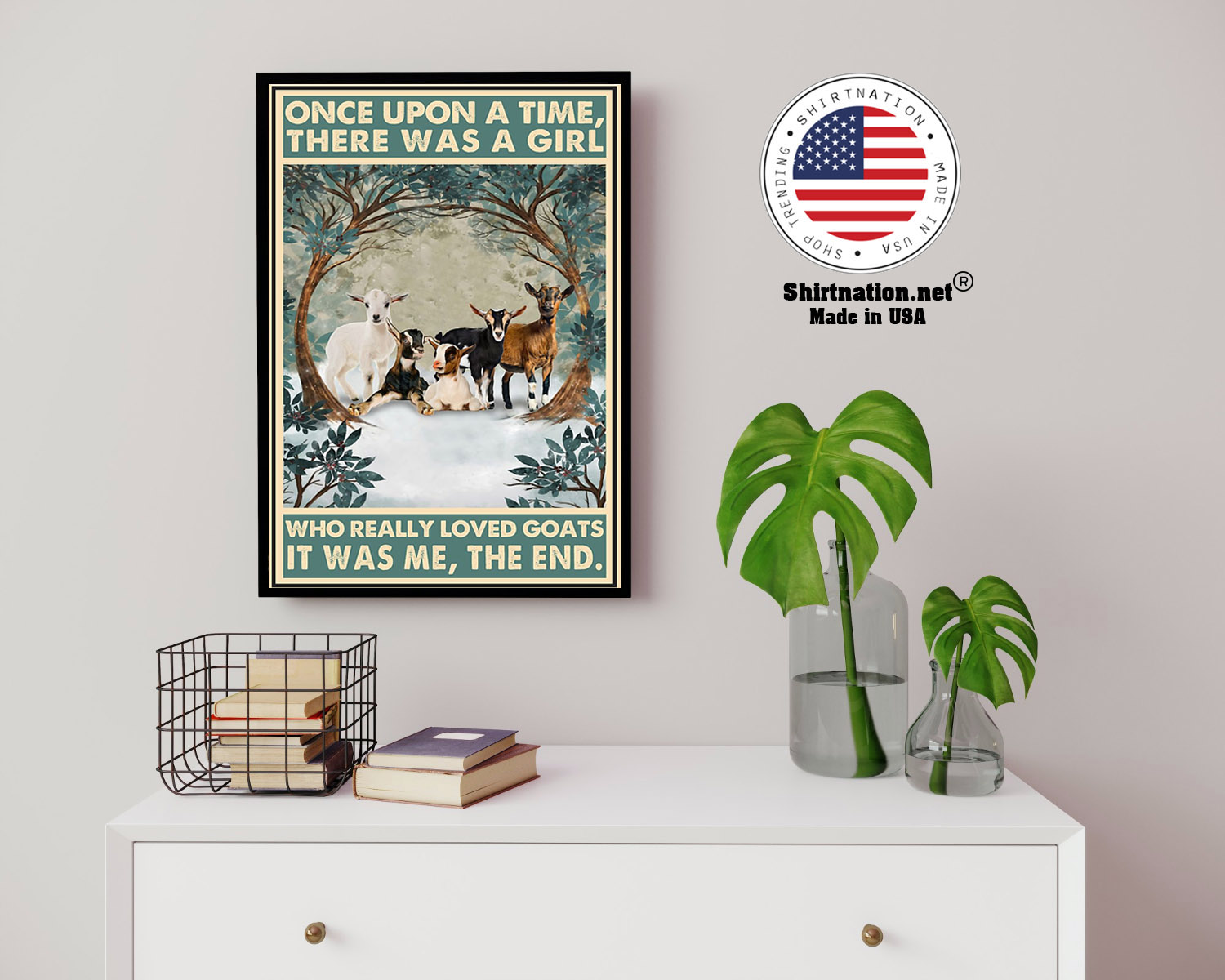 Once upon a time there was a girl who really loved goats poster 3