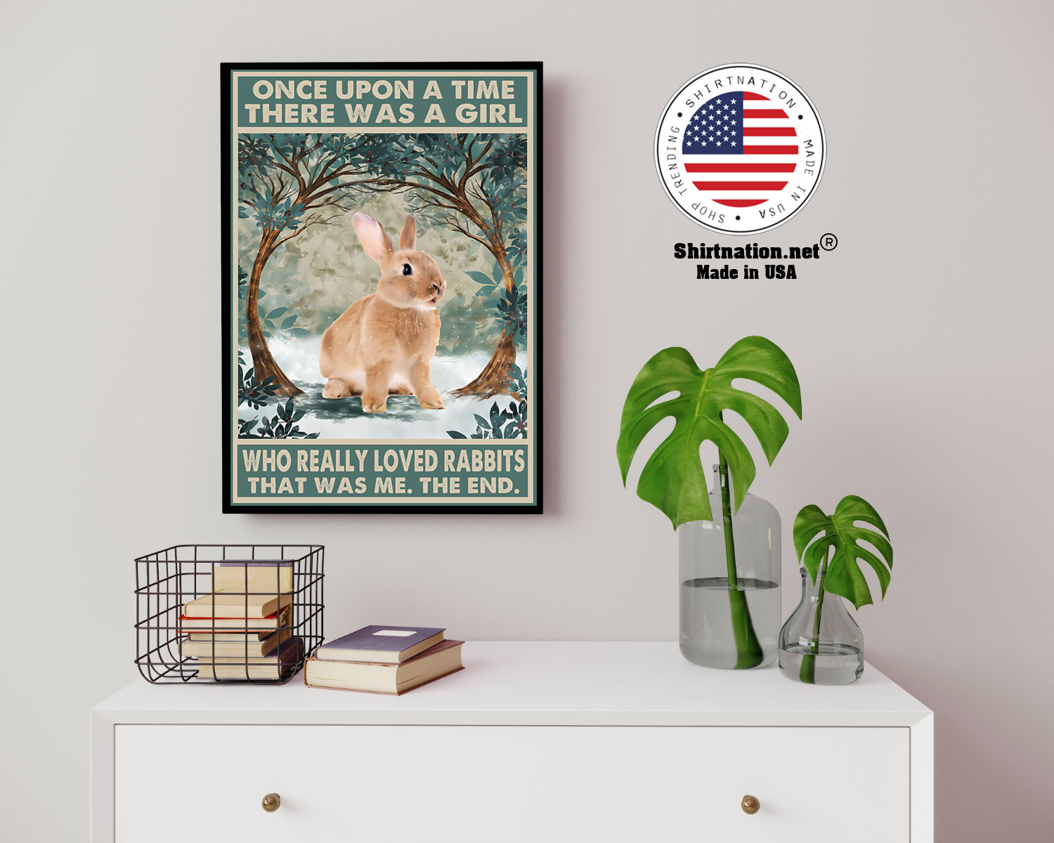Once upon a time there was a girl who really loved rabbits poster 8