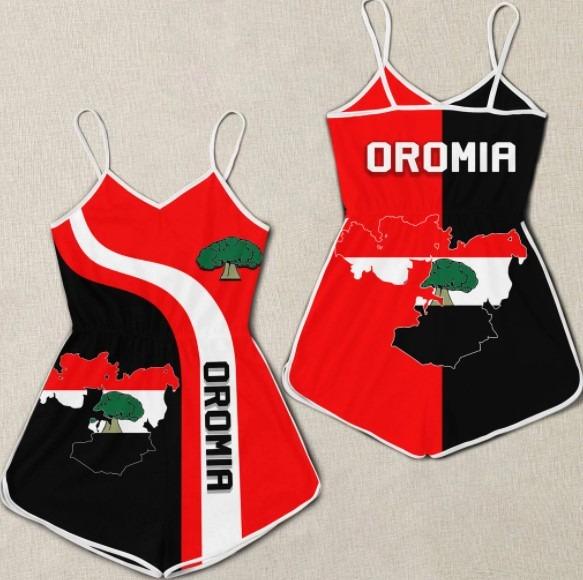 Oromia flag maps 3D hoodie 2