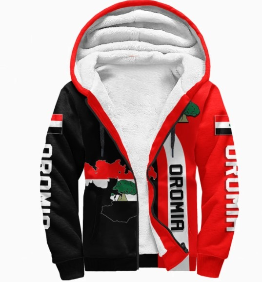 Oromia flag maps 3D hoodie 4