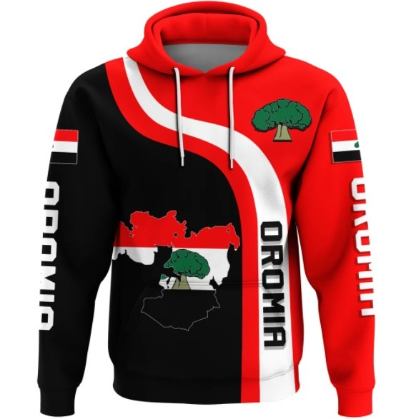 Oromia flag maps 3D hoodie 5