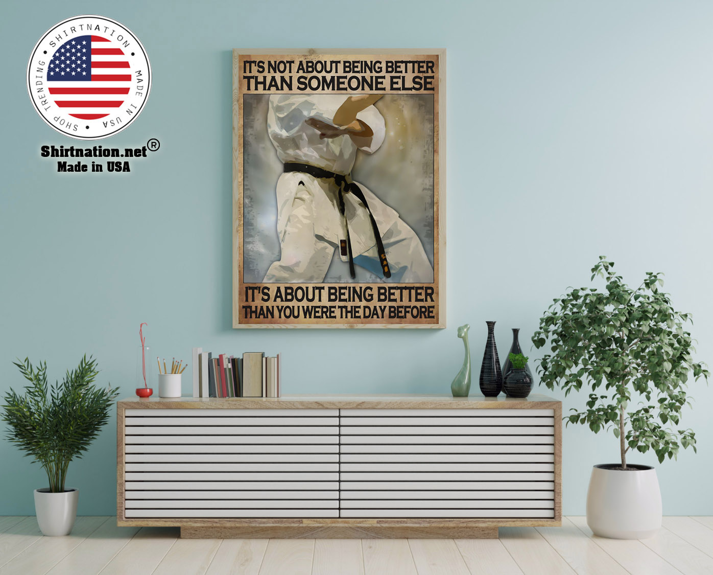 Osu Karate Its not about being better than someone else poster 12