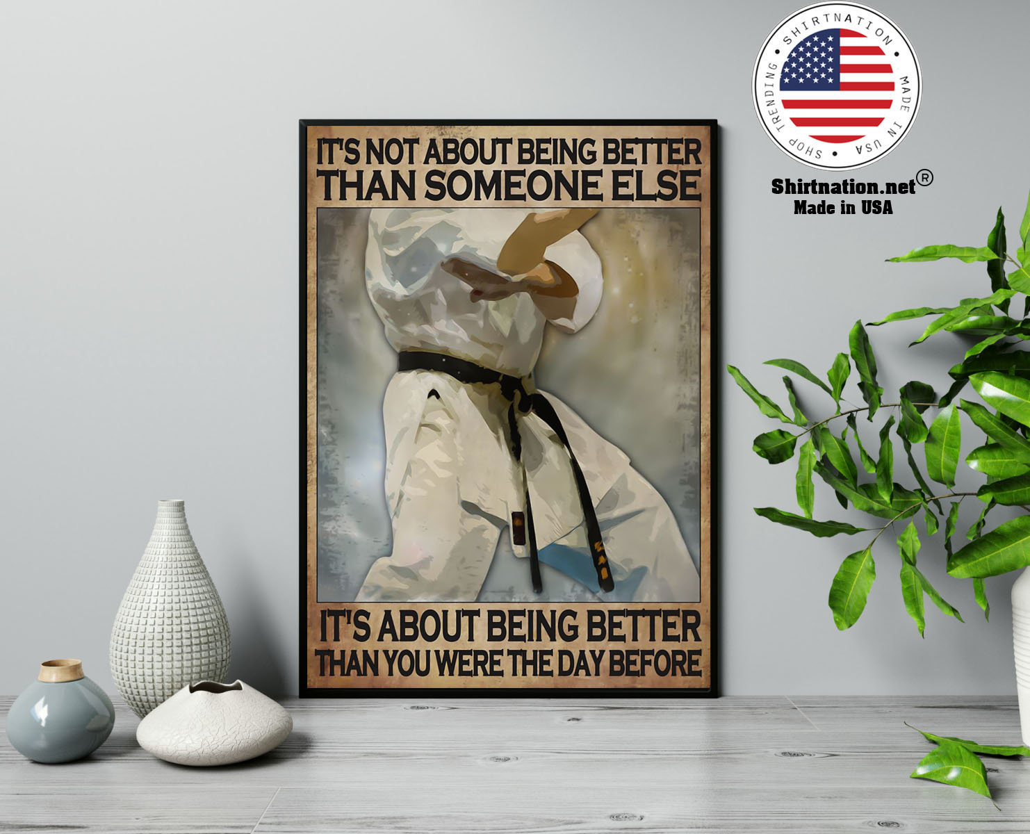 Osu Karate Its not about being better than someone else poster 13