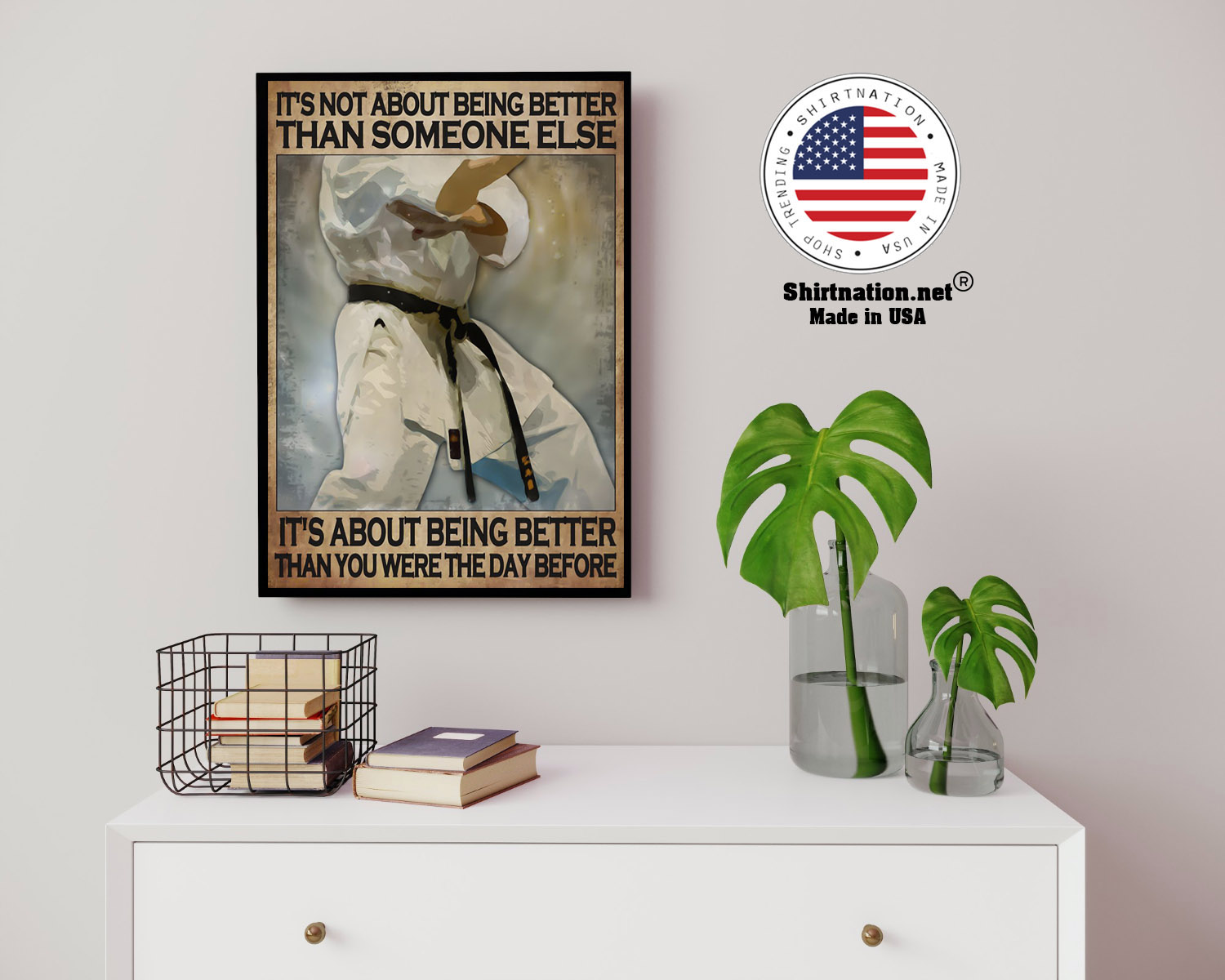 Osu Karate Its not about being better than someone else poster 14