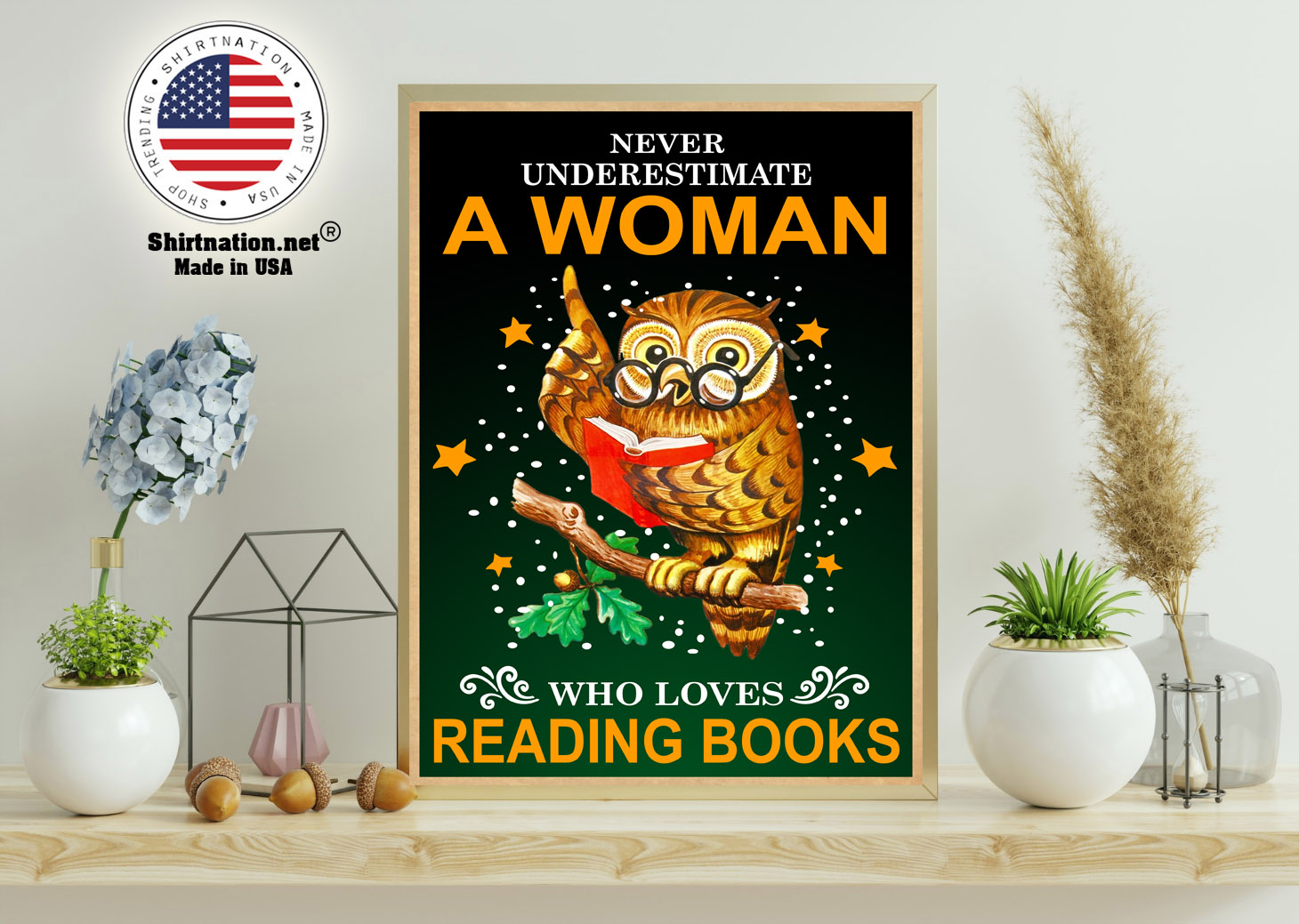 Owl Never underestmate a woman who loves reading books poster 11