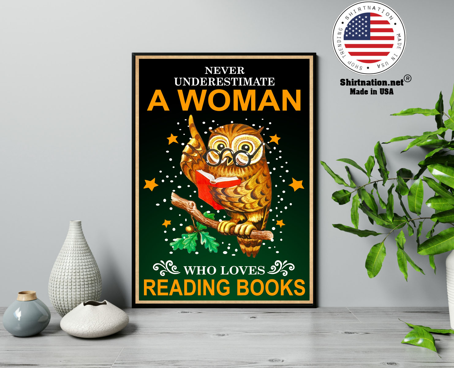 Owl Never underestmate a woman who loves reading books poster 13