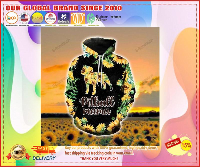 Pitbull mama Sunflower 3D hoodie and legging 3