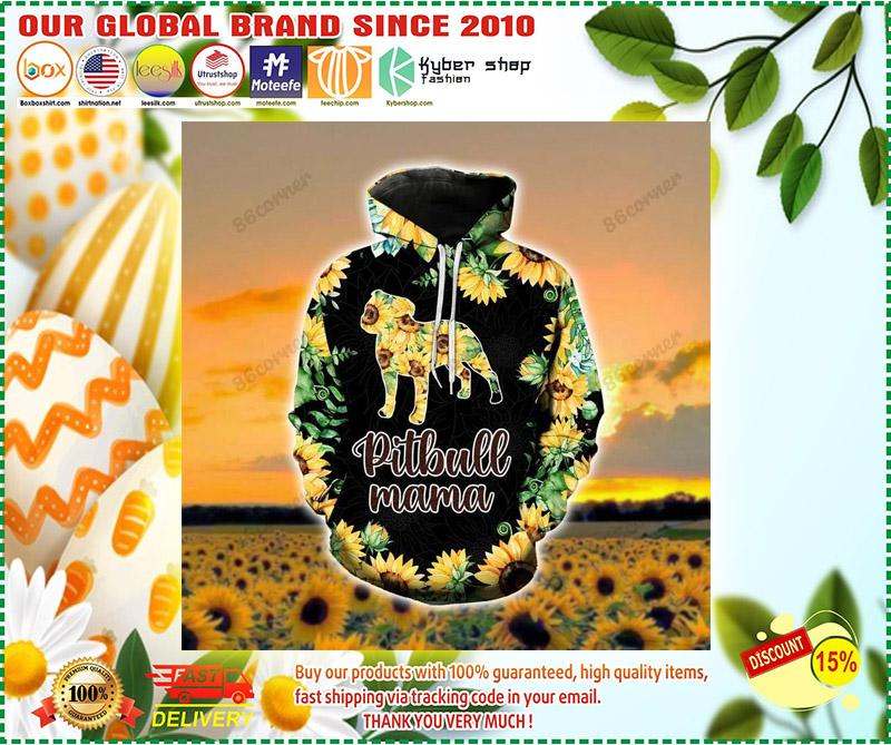 Pitbull mama Sunflower 3D hoodie and legging 4