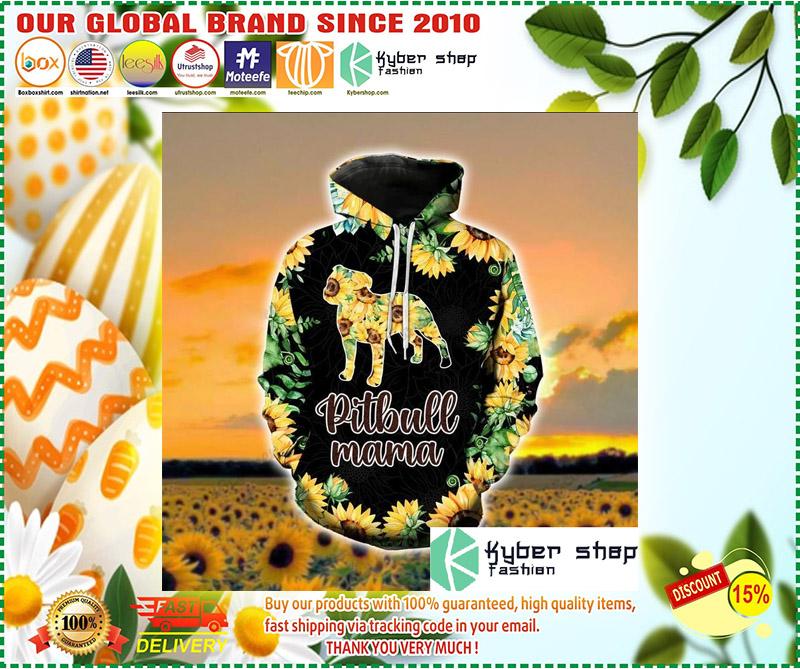 Pitbull mama sunflower 3d hoodie and legging 3 3