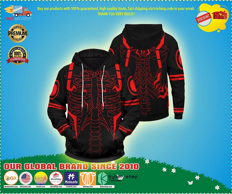 Rib Sukuna 3d over print hoodie 1