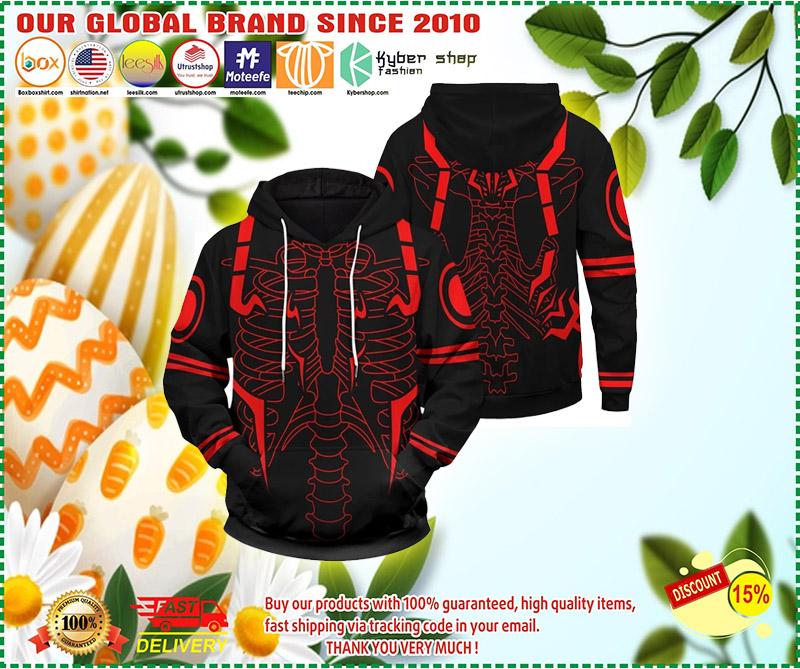 Rib Sukuna 3d over print hoodie 2