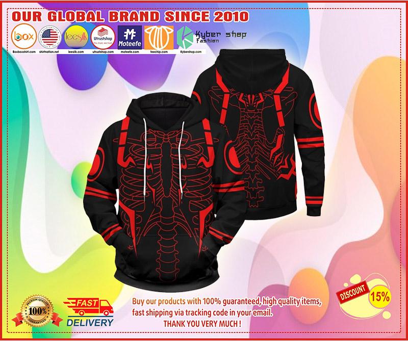 Rib Sukuna 3d over print hoodie 3
