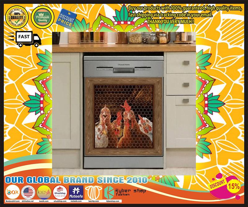 Rooster chicken decor kitchen dishwasher 1 1