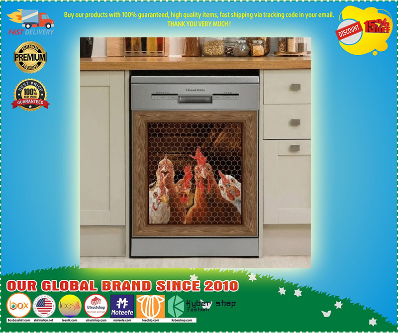 Rooster chicken decor kitchen dishwasher 2 1
