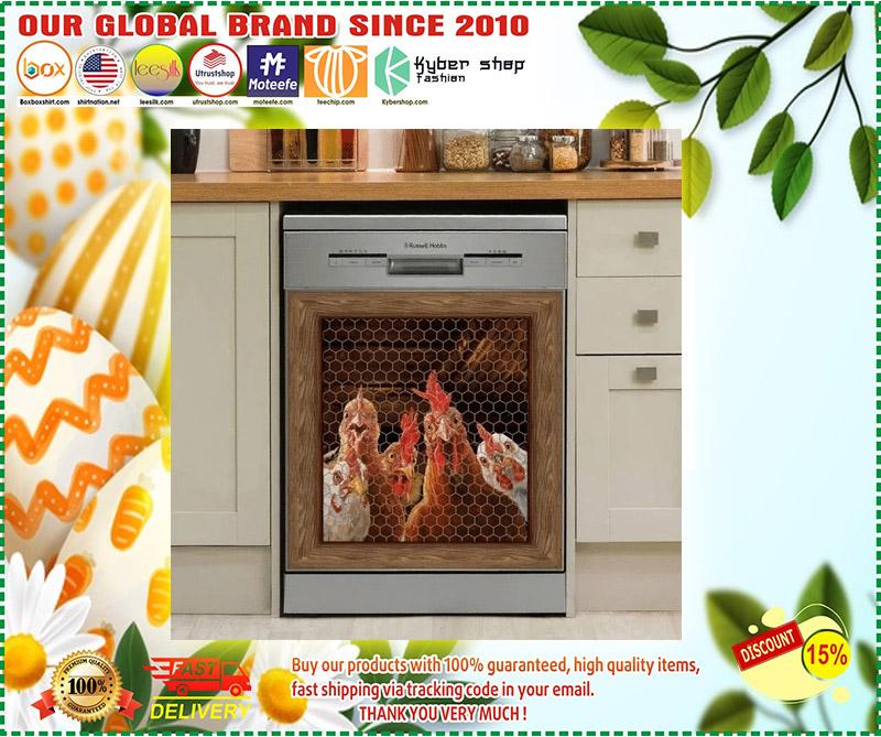 Rooster chicken decor kitchen dishwasher 3 1