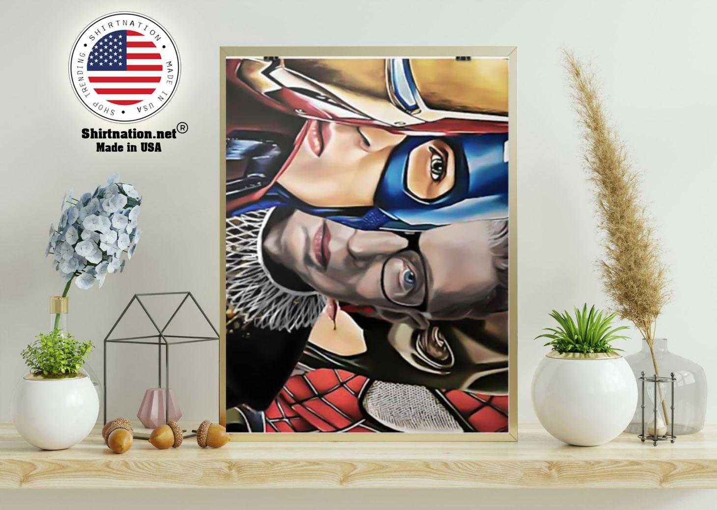 Ruth Bader Ginsburg super heroes poster 21