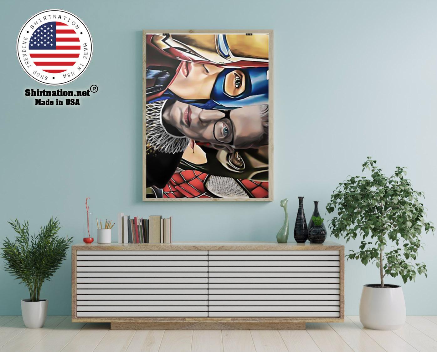 Ruth Bader Ginsburg super heroes poster 22