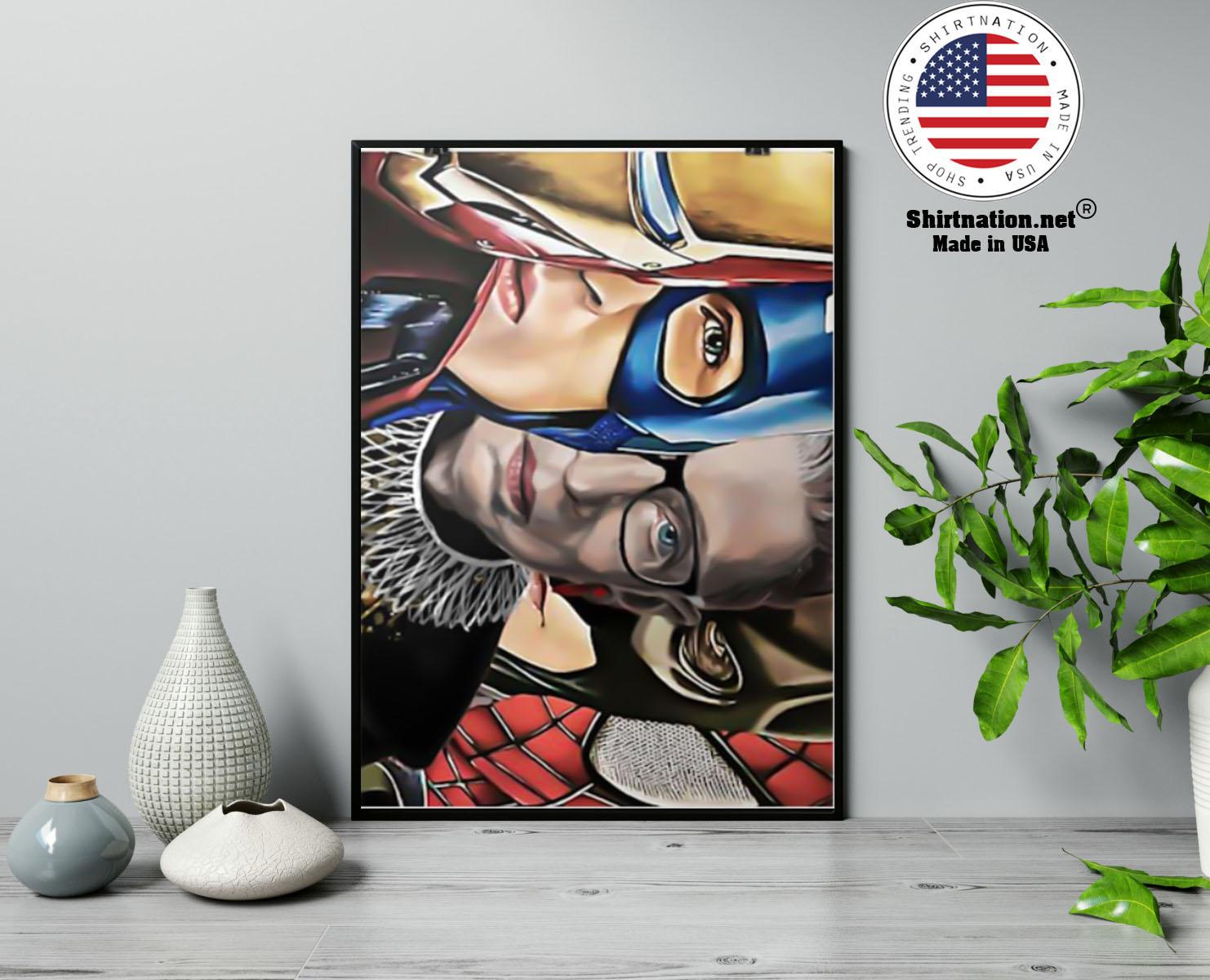 Ruth Bader Ginsburg super heroes poster 23