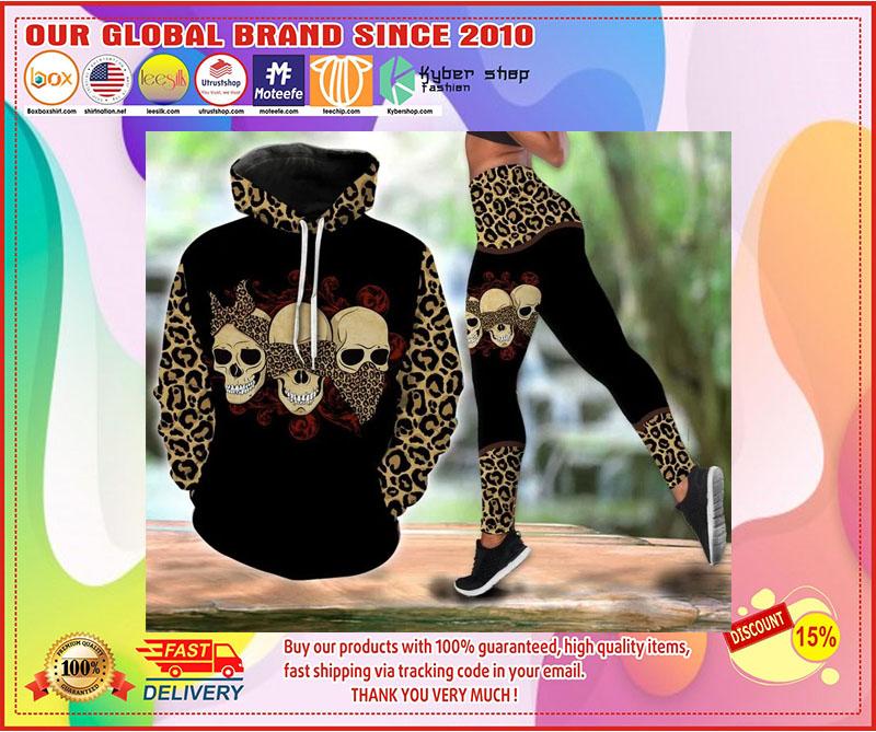 Skull 3D hoodie and legging 1