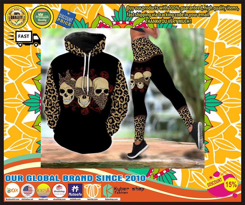 Skull 3D hoodie and legging 4