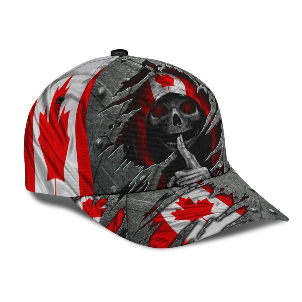 Skull Canada flag cap 1