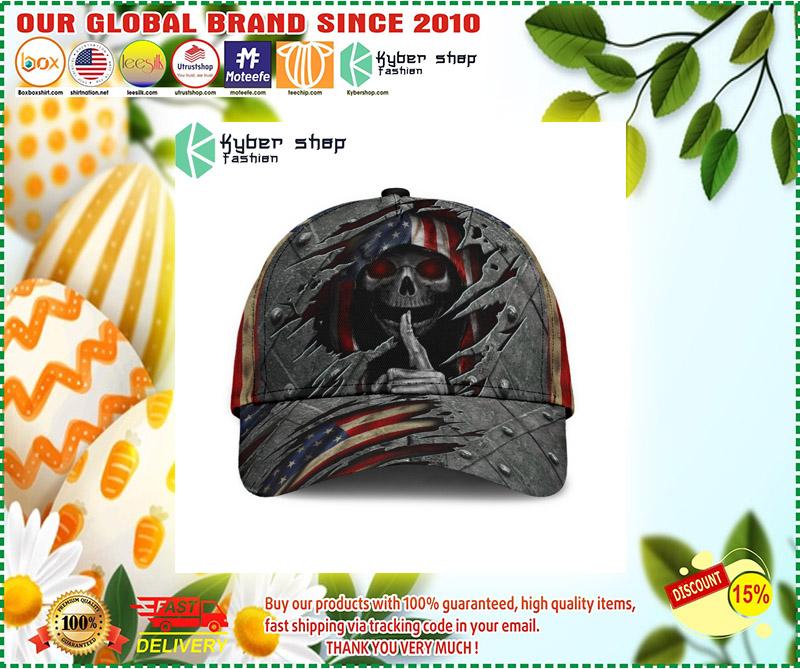 Skull american flag cap 2 3