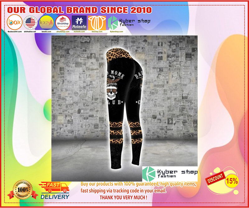 Skull bad moms 3D hoodie and legging 1 1