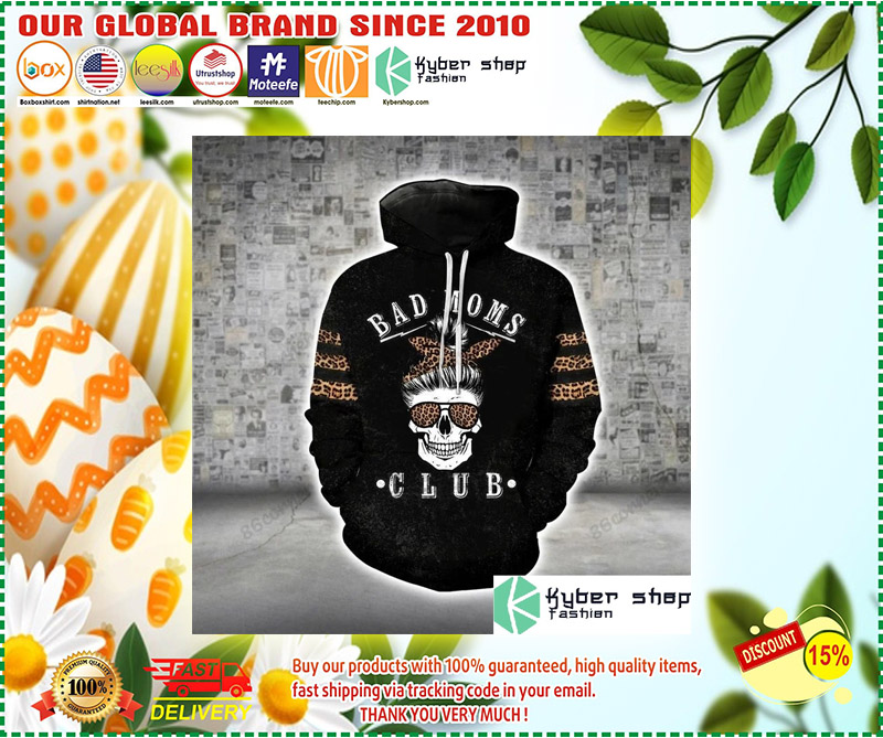 Skull bad moms 3D hoodie and legging 2 1