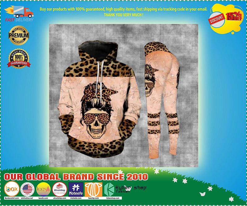 Skull badass moms club 3D hoodie and legging 3