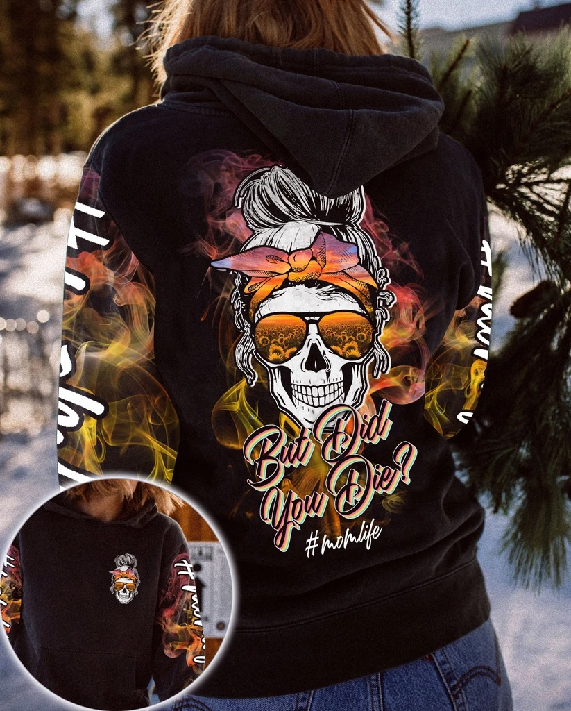 Skull but did you die sunflower 3d shirt and hoodie 1