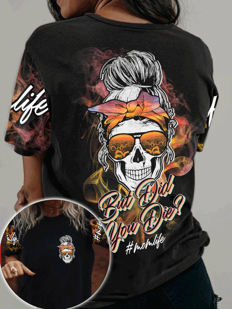 Skull but did you die sunflower 3d shirt and hoodie 3