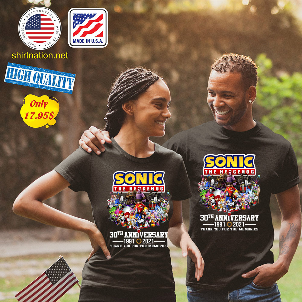 Sonic the hedgehog 30th anniversary 1991 2021 thank you for the memories Shirt