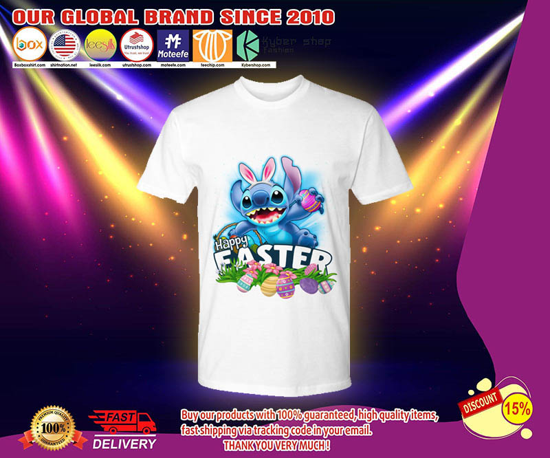 Stitch happy easter day shirt 2