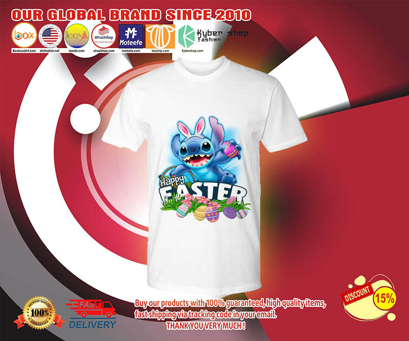 Stitch happy easter day shirt 3