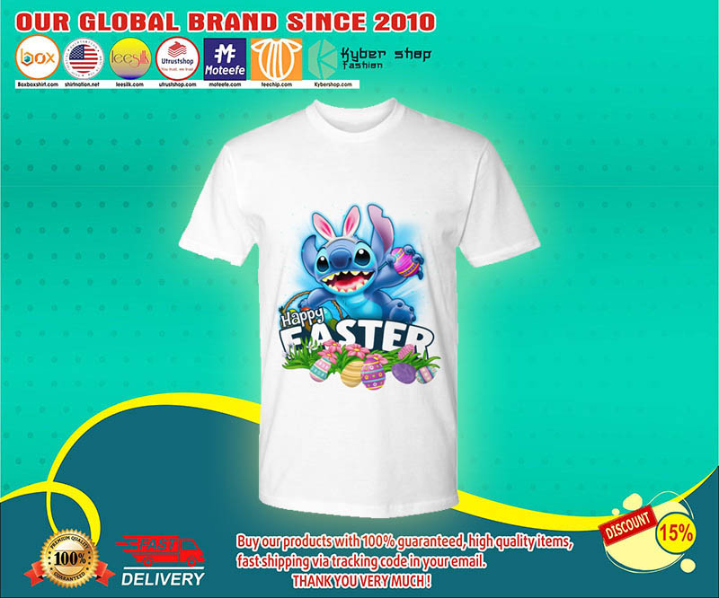 Stitch happy easter day shirt 4